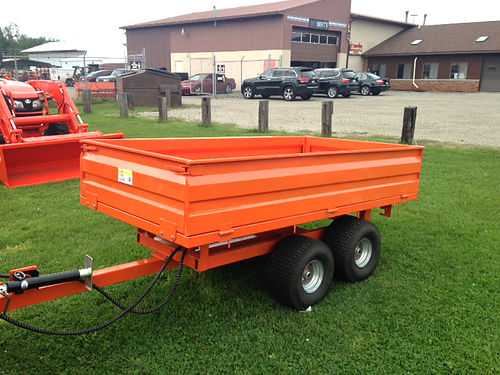 NEW hydraulic dump trailer 4000 lb rated 4x8 drop down sides while supplies last 1695