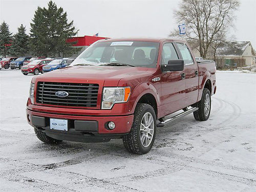2014 FORD F-150 STX HT107A crew cab 4x4 50L V8 security system 1 owner 350 lbs payload 406