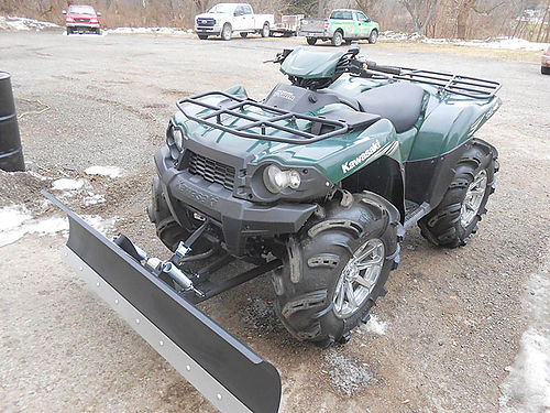 2011 KAWASAKI Brute Force 750 4x4i new plow and electric lift only 1666 miles only 5999