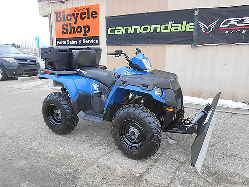 2013 POLARIS Sportsman 400 HO new plow and winch only 397 miles super condition only 4995