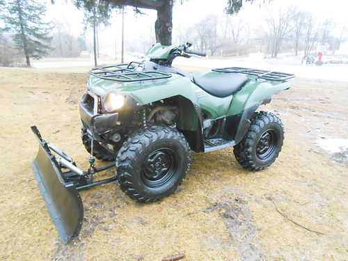 2005 KAWASAKI Brute Force 750 4x4i only 1593 miles hand warmers plow and winch only 4999