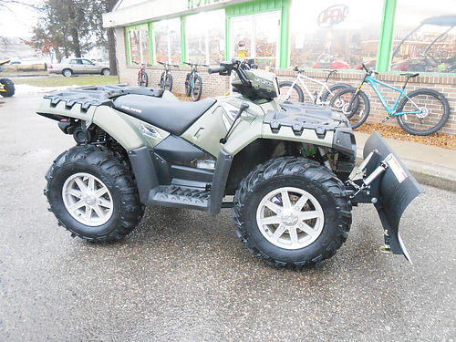 2010 POLARIS Sportsman 550 EPS low miles includes plow only 5495