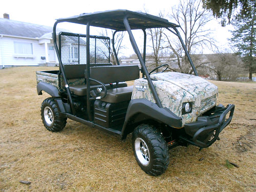 2011 KAWASAKI Mule 4010 Trans4x4 realtree camo only 522 hours 617cc multi-passenger only 8499