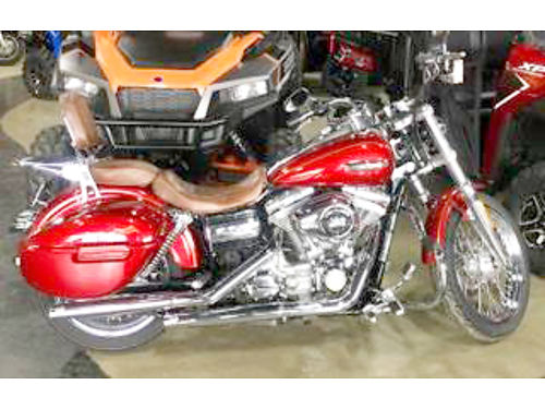 2008 HARLEY-DAVIDSON Dyna Super Glide Custom FXDI stunning low miles candy red sunglo loaded wit