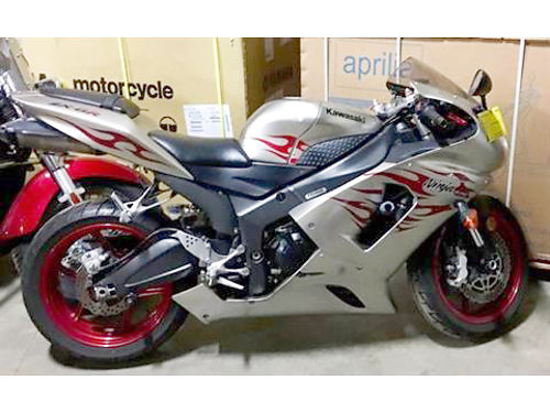 2006 KAWASAKI Ninja ZX-6R low miles super sport silver outstanding ask for James only 4788