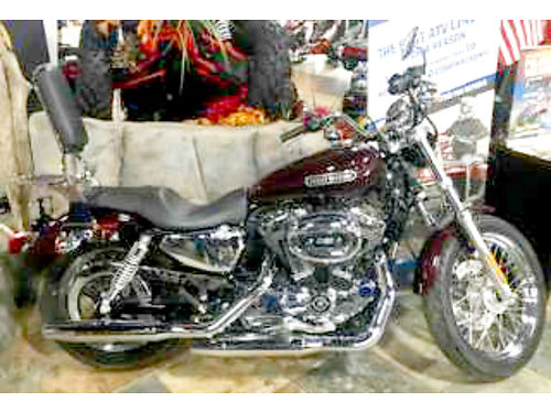 2007 HARLEY-DAVIDSON Sportster 1200 Low black cherry pearl fire breathing Milwaukee V-turn ask fo