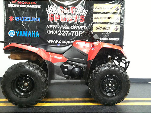 2016 SUZUKI King Quad 400ASi flame red 2WD  4WD modes best financing in the state call today -