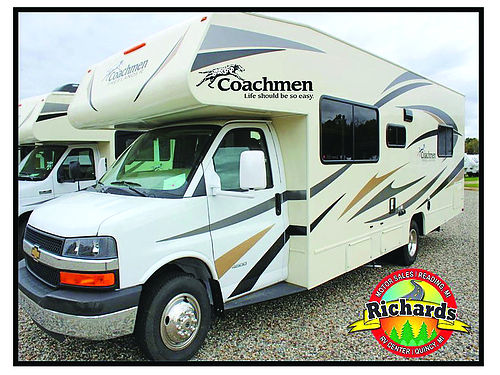 2017 COACHMEAN Freelander 27QB sleeps 6-8 awning ac generator rear queen full kitchen  bath