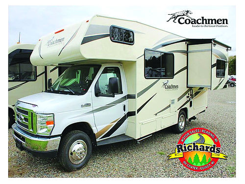 2017 COACHMEAN Freelander 21RS Ford V10 sleeps 5 slide awning ac custom counters 55956
