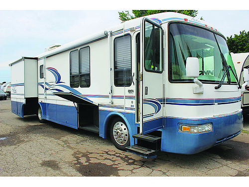 2001 REXHALL Airbus 3655DS only 62700 miles cummins diesel 2 slides side x side refrigerator d