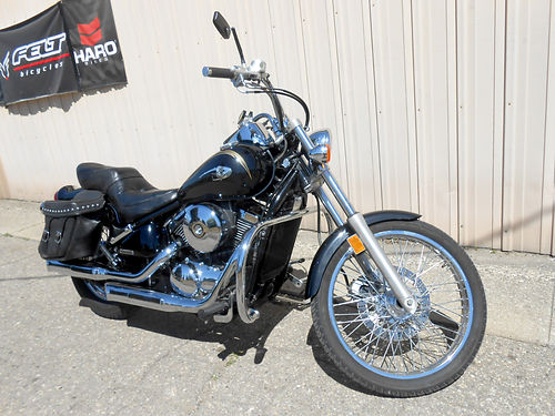 2003 KAWASAKI Vulcan 800 leather saddle racked out front end 2499