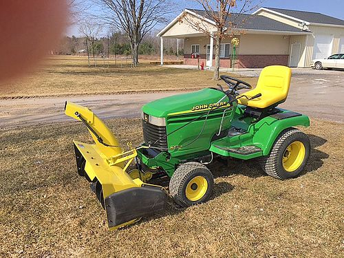 JOHN Deere 345 54 cut 18 HP Kawasaki LC PS hydro power flo bagger snow blower or blade