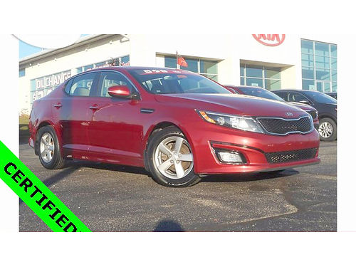 2014 KIA Optima LX J101351 right car - right price certified 12994
