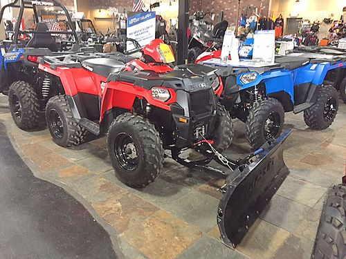 2015 POLARIS 570 Sportsman with plow low hours like new ask for Ross 5488