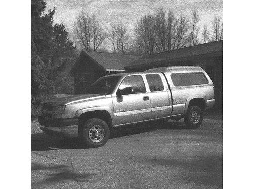 2003 CHEVY Silverado LS 2500HD 2WD Ext Cab pewter heavy duty trailoring equipment loaded 681