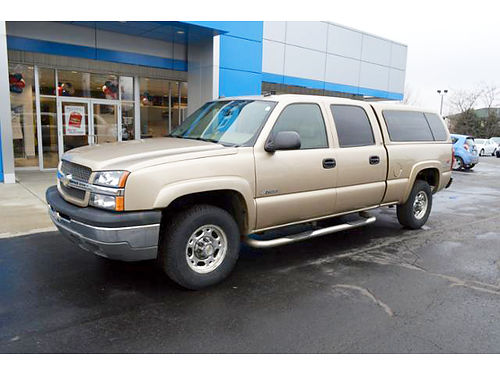 2004 CHEVY Silverado 2500 LT T276291A 4WD crew cab standard box matching topper leather 13