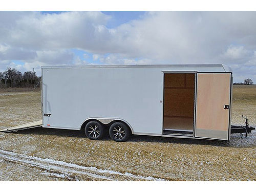 CARGO Express 85x20 enclosed car hauler 10k GVW torsion axles aluminum wheels plywood walls sea