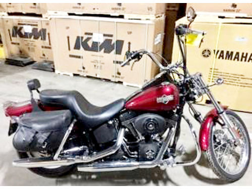 2004 HARLEY Davidson Softail Night Train lava red sunglo paint must see ask for James or Cody 6