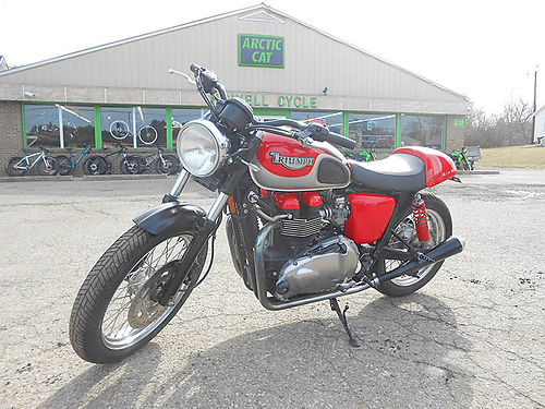 2007 TRIUMPH Bonneville red 865cc nice condition 4599