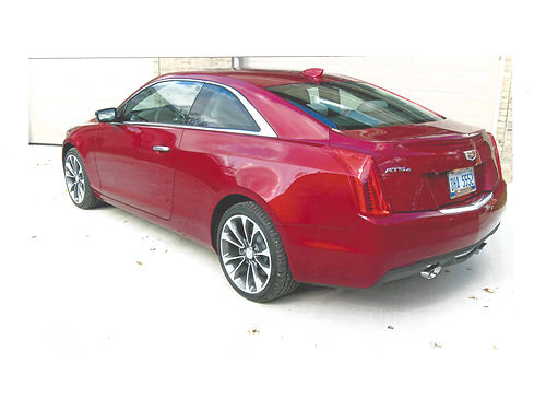 2016 CADILLAC ATS coupe AWD turbo luxury 8 speed automatic special edition red obsession tint
