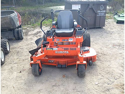 2016 KUBOTA Z725 Zero Turn 60 mowing deck 25 hp gas engine 1 - 5 cut height 6400 866-574-99