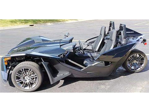 2017 POLARIS Slingshot S black looks like a Batmobile ultra cool no one will ever miss seeing yo