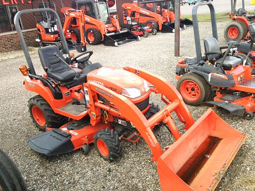 2006 KUBOTA BX 1850 loader 54 mid-mower 18hp diesel 4WD power steering mid-rear PTO 3pt hyd