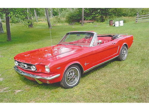 1965 FORD Mustang Convertible 302 V-8 C-4 transmission power brakes power steering power top t
