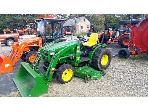 2015 JOHN Deere 2032R Tractor 32hp cooled diesel engine Cat 1 3pt hitch H130 loader with 54 buck
