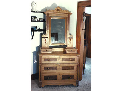 EASTLAKE Dresser - rare made in Lansing Michigan Featured in Swedberg American Oak Furniture Book