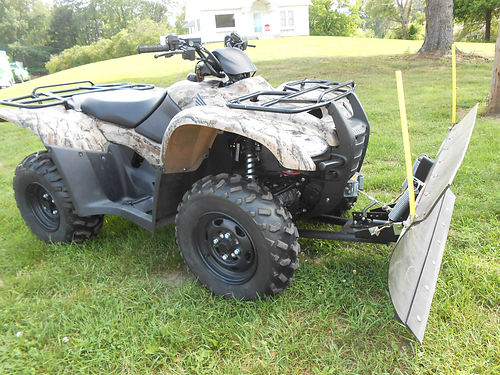 2011 HONDA Four Trax Rancher great condition low miles plow and winch 4995
