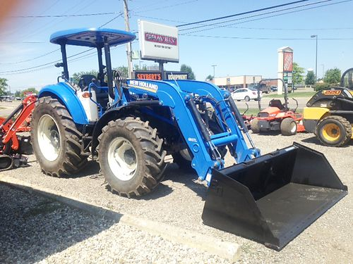 2015 NEW Holland T4105 with loader one owner 4WD 106hp diesel new 84 universal QA bucket pow