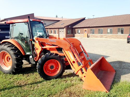 2011 KUBOTA M8540HDC-1 with quick attach 84 bucket Kubota LA1353 Front loader 85hp 4 cylinder die