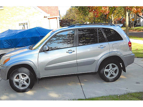 2001 TOYOTA RAV4 silver 236000 miles leather automatic 4WD good tires 4