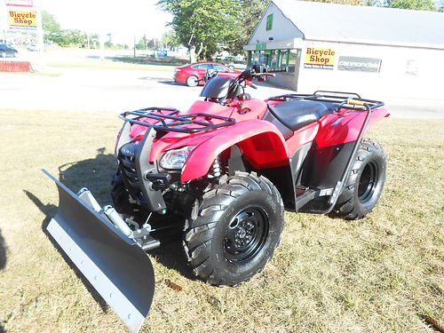 2012 HONDA FourTrax Rancher 4x4 ES nice condition low hours plow  manual lift 4995