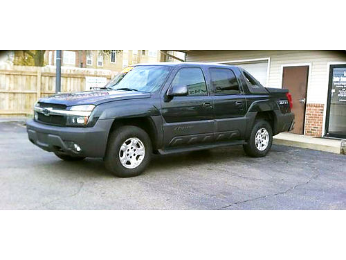 2003 CHEVY Avalanche LT 4x4 one owner gorgeous only 218month or 9495