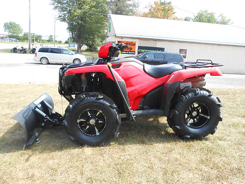 2014 HONDA Four Trax Foreman ES 4x4 309 hours plow with manual lift 5999