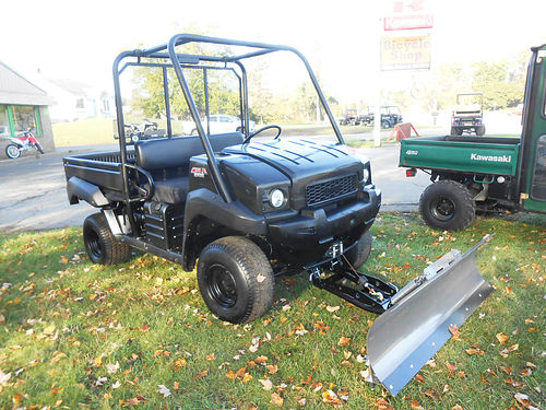 2011 KAWASAKI Mule 4010 4x4 low hours plow included 6999
