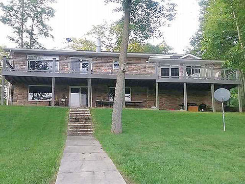 6415 REDMAN Harrison - Custom built brick and stone waterfront home on Long Lake master suite bon