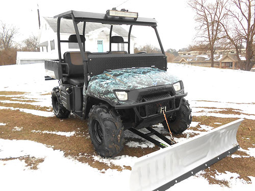 2006 POLARIS Ranger XP Browning Limited Edition only 983 hours plow and winch Pioneer radio 64