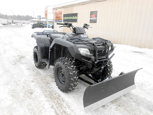 2014 HONDA FourTrax Rancher 4x4 ES nice condition new plow set up 4499