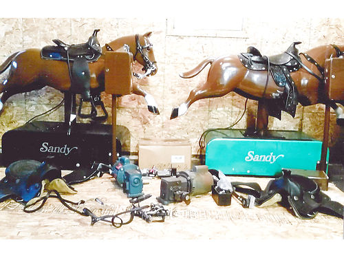2 MECHANICAL Horses 1 is in excellent shape 1 is in very good shape both work extra parts includ