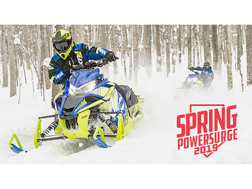 2019 YAMAHA Spring Powersurge going on now Order a 2019 Yamaha Snowmobile today and get special low