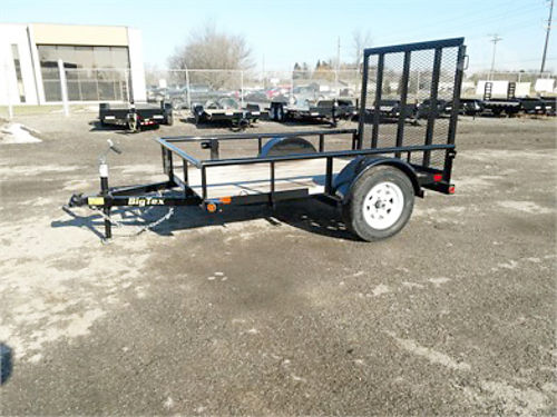2018 BIG Tex 35SA tandem axle 14 ft deck 4 ft rampgate all steel wheels 1700