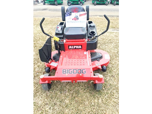 BIG DOG Alpha MP 54 mower 23hp Kawasaki 7-year 500-hour warranty msrp 4899 sale price 4499