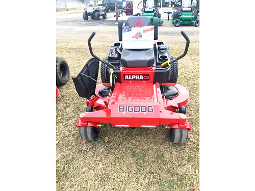 BIG DOG Stout 60 mower 24hp Kawasaki 7-year 500-hour warranty msrp 7699 sale price 6599