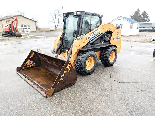 CASE SV250 Skid Steer 76hp turbo charged diesel engine full cab 80 bucket with cutting edge 20