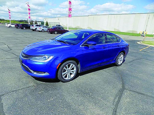 2015 CHRYSLER 200 Limited J101739 Bluetooth great on gas 12529