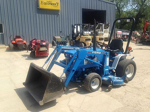 FORD 1220 Tractor Loader Mower 17hp diesel engine 2spd HST 4wd Cat 1 3pt 540PTO 2000 mid PTO