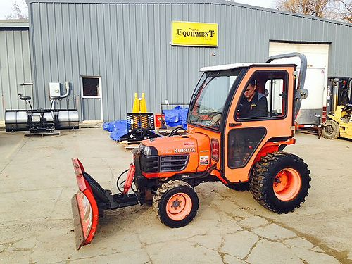 KUBOTA B7510 Tractor 21hp 3 cylinder diesel 44 hydro cat 1 3pt 540 PTO cab front blade  hyd